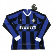 Camiseta Inter Milan 1ª Manga Larga 2019-2020