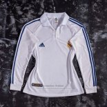 Camiseta Real Madrid 1ª Manga Larga Retro 2001-2002