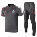 Conjunto Polo Real Madrid 2020-2021 Gris