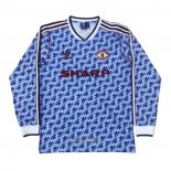 Camiseta Manchester United 2ª Manga Larga Retro 1990-1992