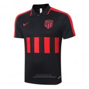 Camiseta Polo del Atletico Madrid 2020-2021 Negro