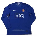 Camiseta Manchester United 2ª Manga Larga Retro 2007-2008