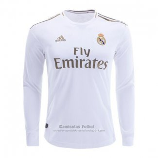 Camiseta Real Madrid 1ª Manga Larga 2019-2020 (2XL-4XL)