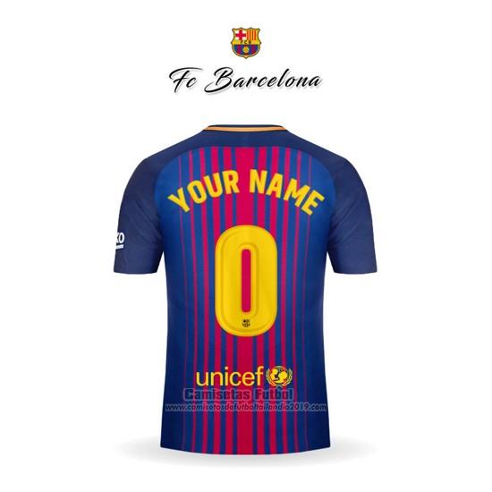 459cacf8ed Comprar Camiseta Barcelona 1ª Personalizada 2017-2018