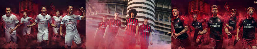 camisetas AC Milan baratas tailandia 2018-2019