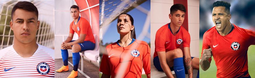 camisetas Chile baratas tailandia 2018